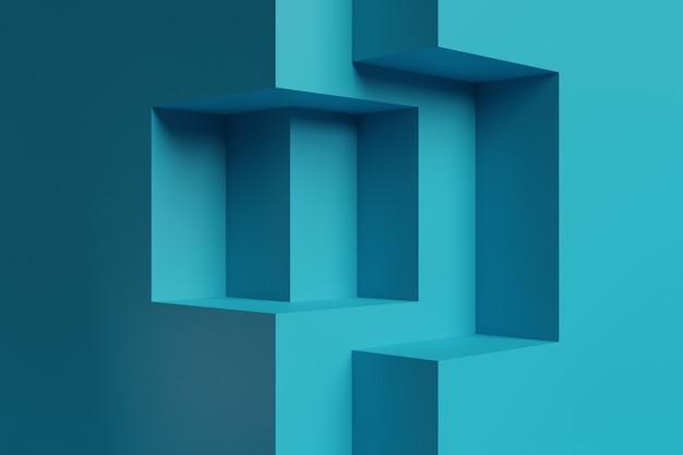 Modello del fondo dell'esposizione della fase della rappresentazione 3d per il creatore di scena