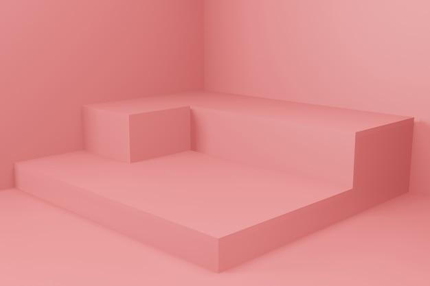 Mockup di sfondo di visualizzazione fase di rendering 3d