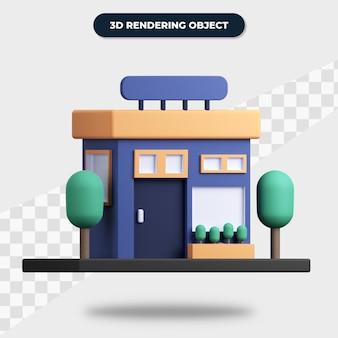 Costruzione del negozio di rendering 3d