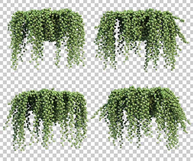 Serie di rendering 3d di perle