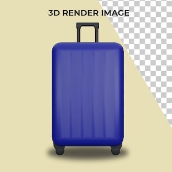Rendering 3d della valigia premium psd