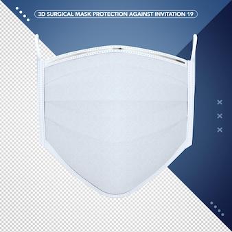 Maschera chirurgica di rendering 3d contro il virus corona