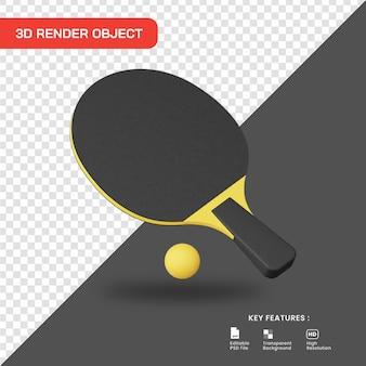 Icona di ping-pong rendering 3d