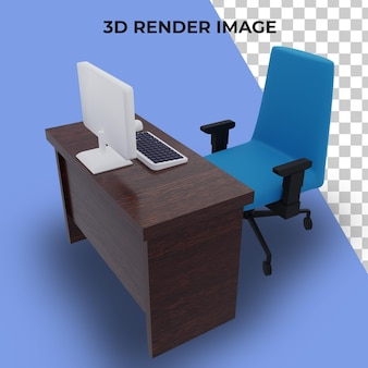 Tavolo di rendering 3d per lavoro