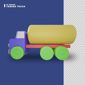 3d rendering icona del camion cisterna