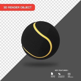 3d rendering icona della pallina da tennis