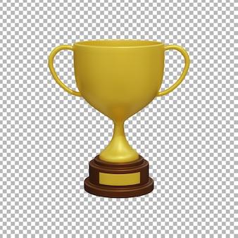 Rendering 3d del trofeo