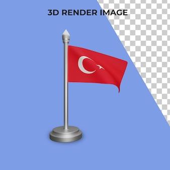 Rendering 3d del concetto di bandiera della turchia giornata nazionale della turchia premium psd