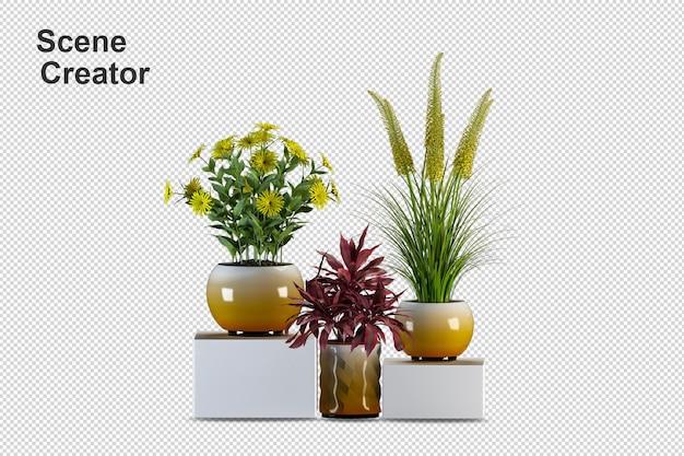 Rendering 3d di vari tipi di disposizione ornamentale