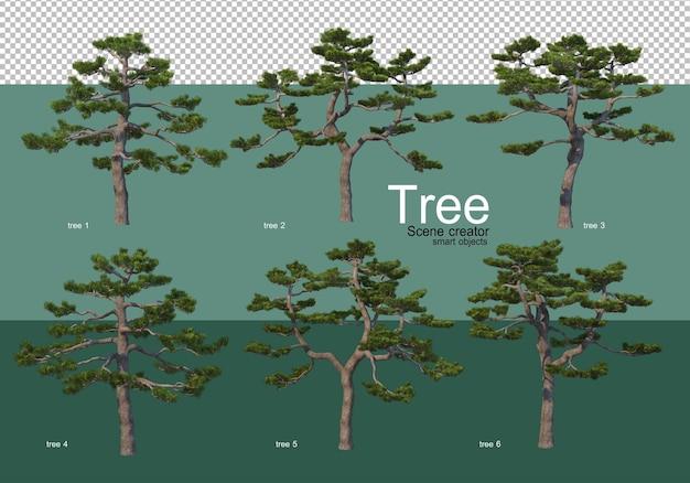 Rendering 3d, vari tipi di layout ad albero