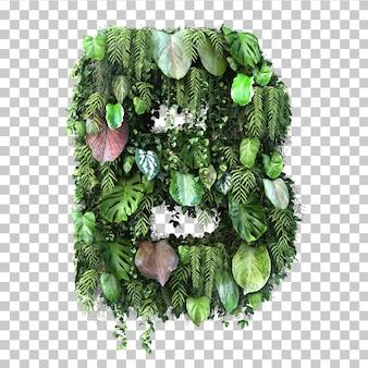 Rappresentazione 3d dell'alfabeto verticale b del giardino