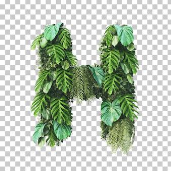 Rendering 3d di alfabeto giardino verticale (lettera h)