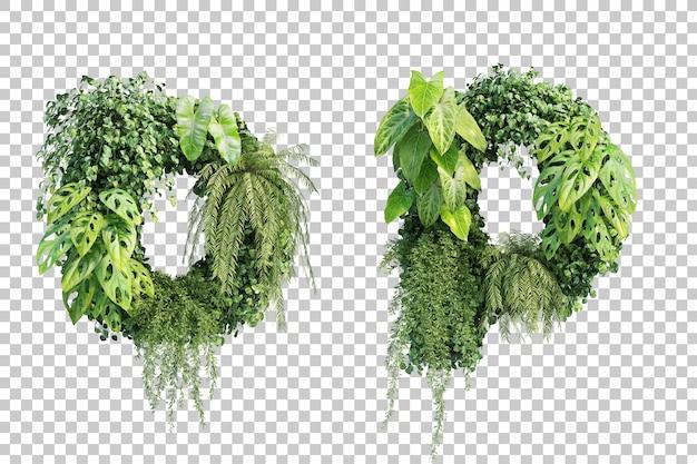 Rappresentazione 3d dell'alfabeto o del giardino verticale o dell'alfabeto p
