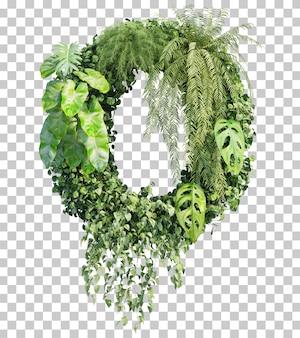 Rappresentazione 3d dell'alfabeto verticale o del giardino