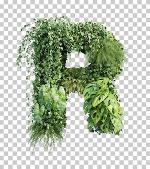 Rappresentazione 3d dell'alfabeto verticale r del giardino