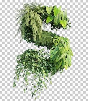 Rappresentazione 3d dell'alfabeto verticale s del giardino