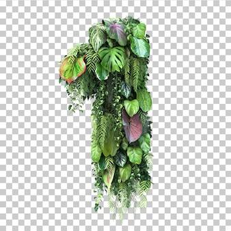 Rappresentazione 3d del giardino verticale numero 1