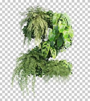 Rappresentazione 3d del giardino verticale numero 2