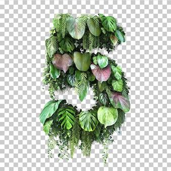Rappresentazione 3d del giardino verticale numero 5