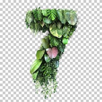 Rappresentazione 3d del giardino verticale numero 7