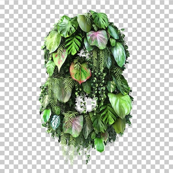 Rappresentazione 3d del giardino verticale numero 8