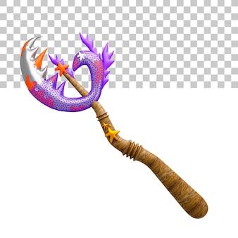 Rendering 3d illustrazione della spada del guerriero Psd Premium