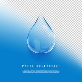 Raccolta di bolle d'acqua di rendering 3d sullo sfondo trasparente