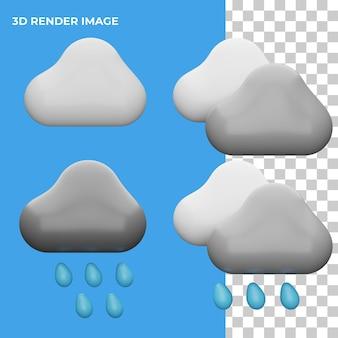 3d rendering icona meteo concetto isolato