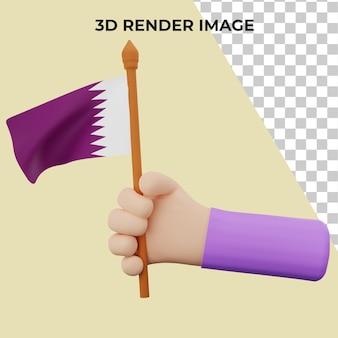 Rendering 3d con il concetto di festa nazionale del qatar