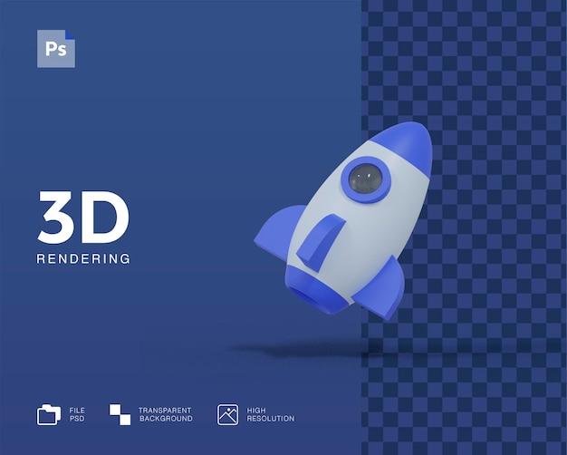 Illustrazione di razzo 3d