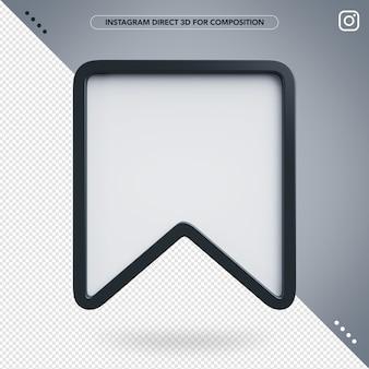 3d salva instagram per la composizione