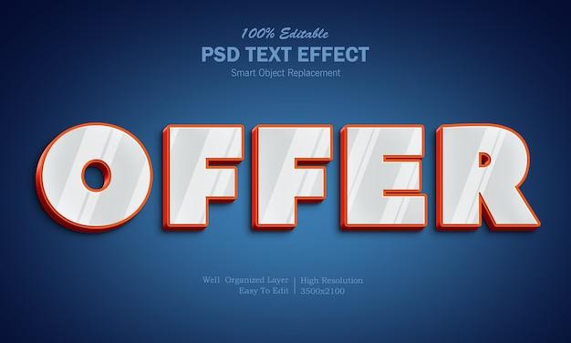 Effetto di testo in metallo brillante 3d