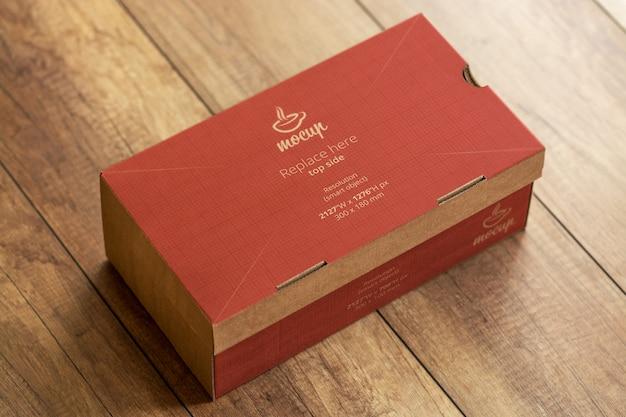 Mockup di scatola di scarpe 3d