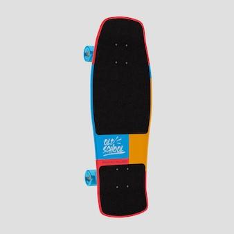 Progettazione di mockup della vecchia scuola di skateboard 3d