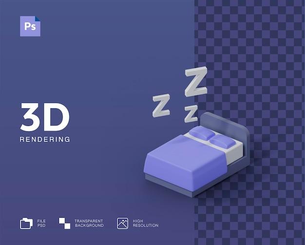 Illustrazione 3d del sonno
