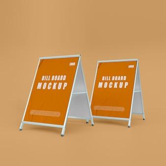 Mockup di piccolo cartellone 3d