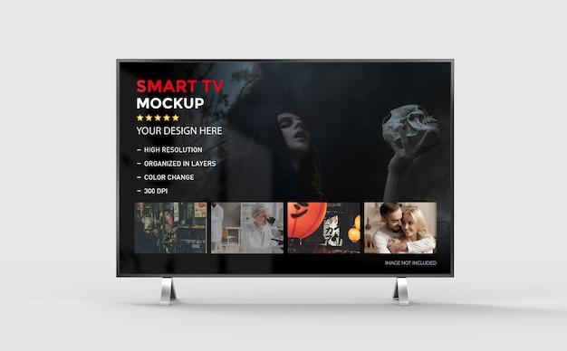 Rendering isolato mockup 3d smart tv
