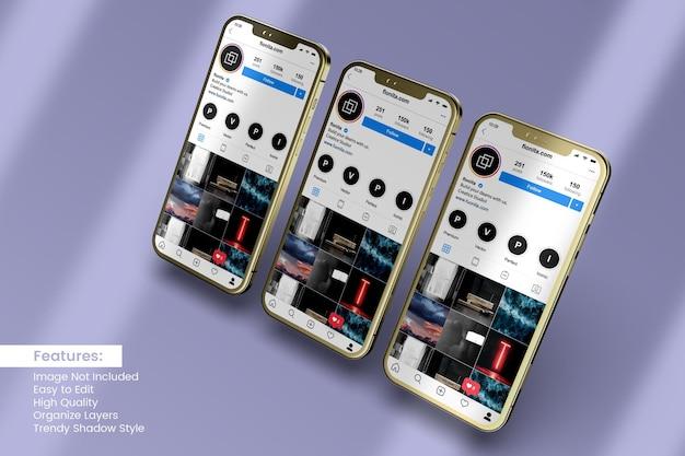 Visualizzazione di progettazione di mockup di smartphone 3d