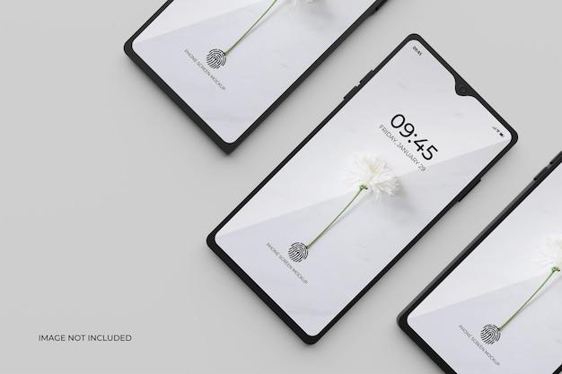 Mockup di schermo dello smartphone 3d