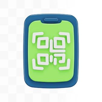 Smartphone 3d con codice qr