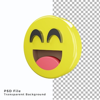 3d smile emoticon emoji icon file psd di alta qualità