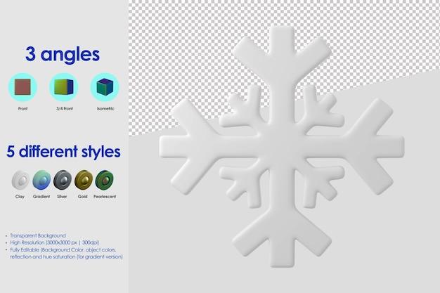 Icona di neve 3d