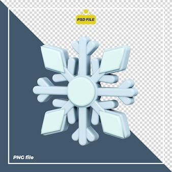 Disegno dell'icona del fiocco di neve 3d