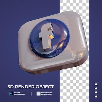 Icona social media 3d