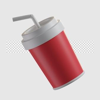 Illustrazione dell'icona del fumetto della bevanda della soda 3d