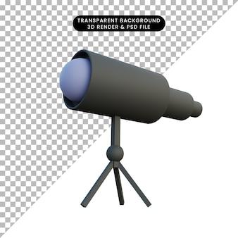 Illustrazione del binocolo spaziale 3d
