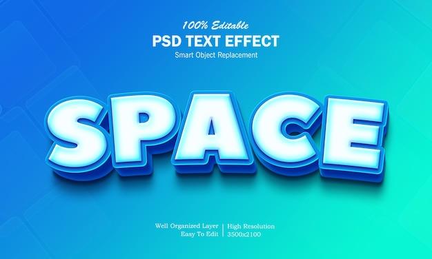 Effetto testo spazio 3d
