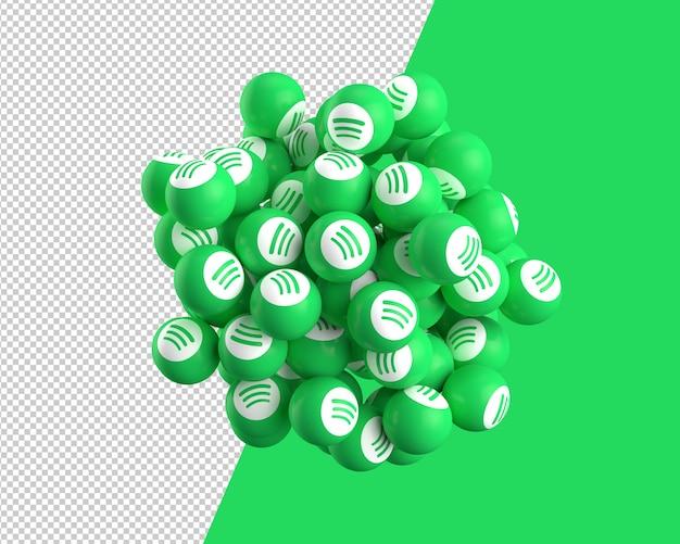 Sfere 3d dell'icona di spotify