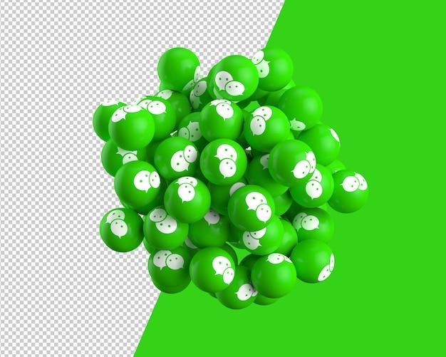 Sfere 3d dell'icona di wechat