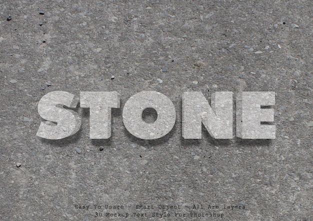 Effetto pietra stile testo 3d